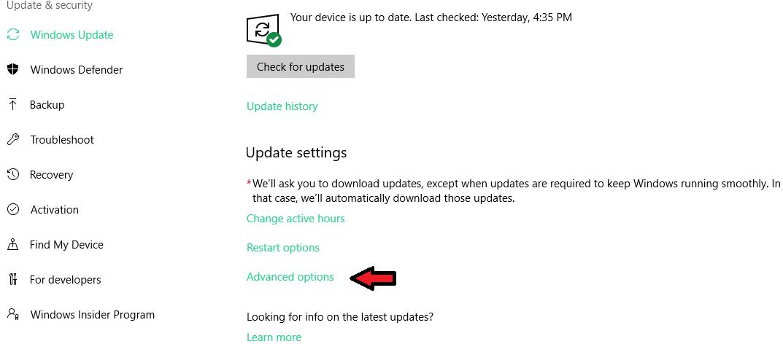 các bước ngưng update windows 10