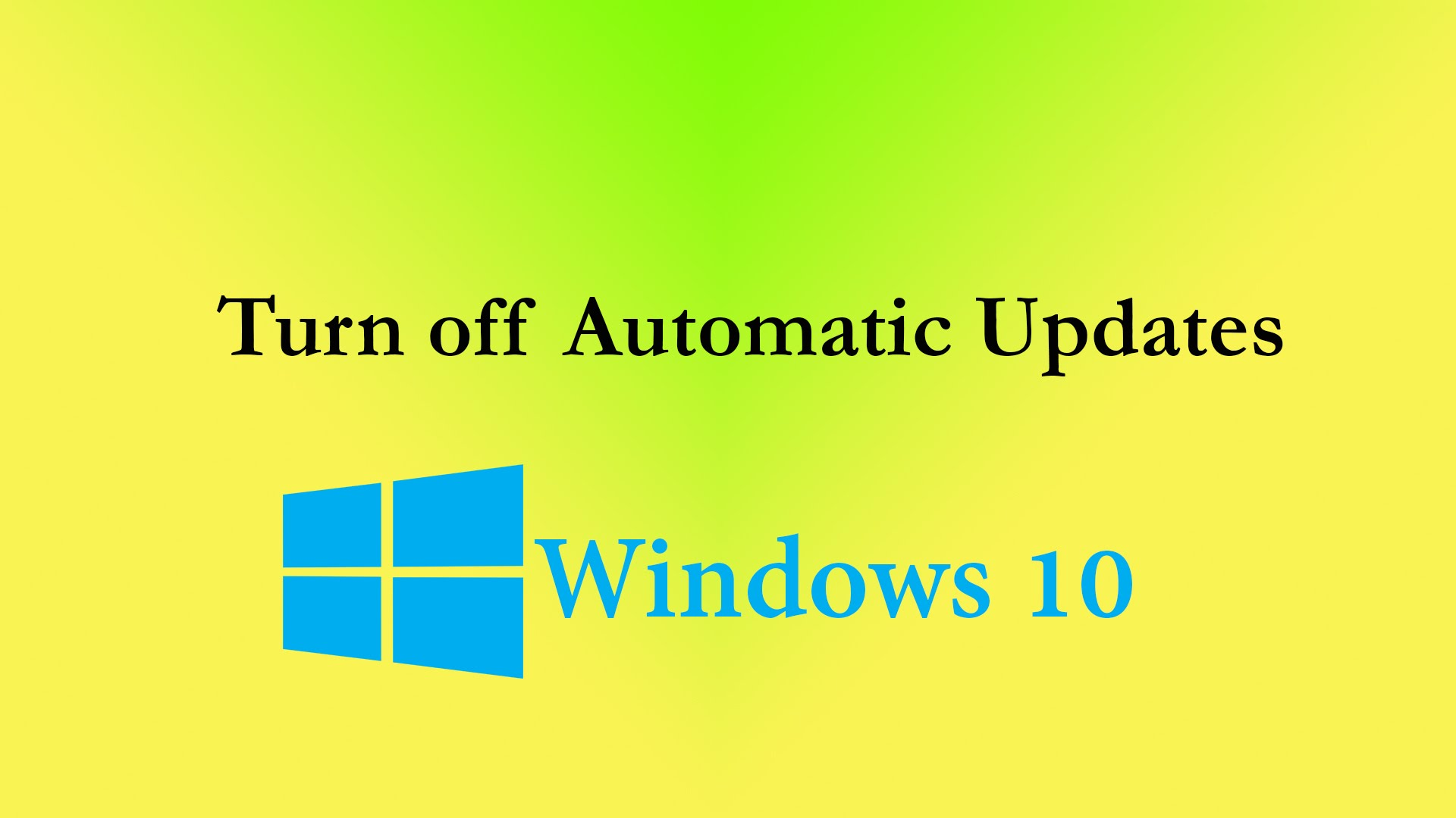 cách tắt update windows 10