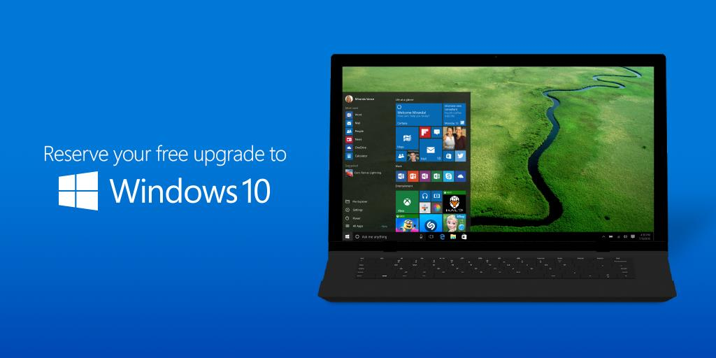 miễn phí upgrade to windows 10