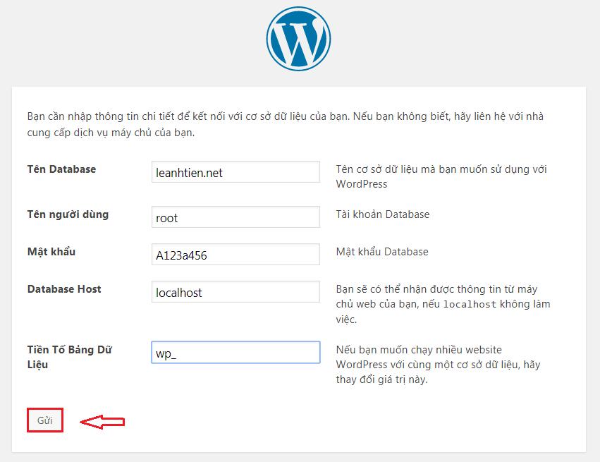 Kết nối đến database trên localhost