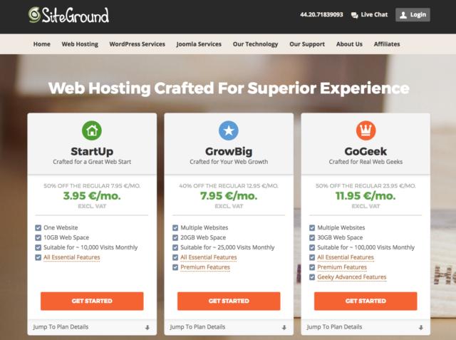 siteground hosting nước ngoài