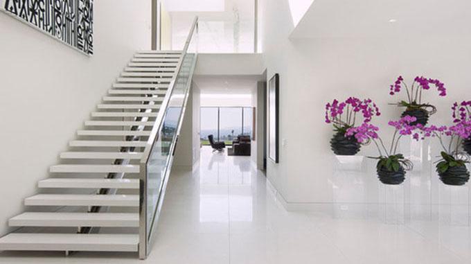 cầu thang đẹp dạng thẳng