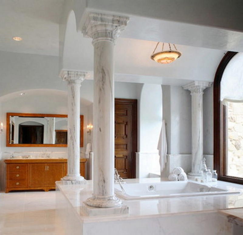 cột nhà đẹp dạng tròn