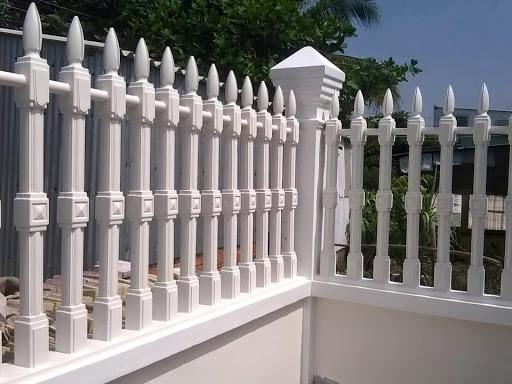 Mẫu hàng rào bằng bê tông