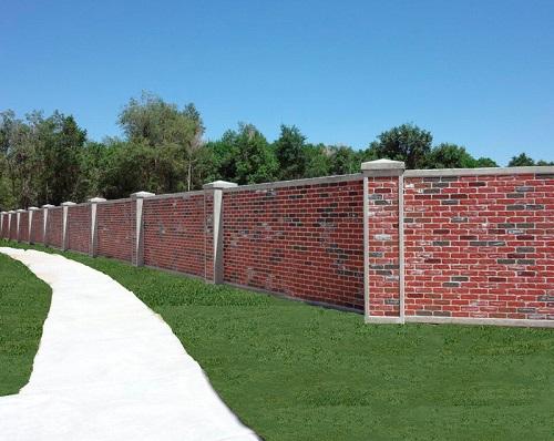 Mẫu hàng rào bằng gạch
