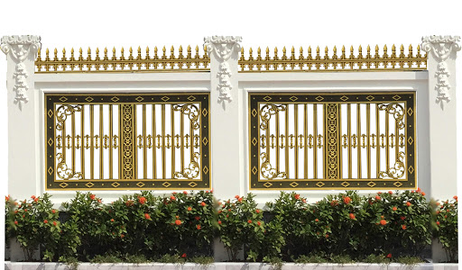mẫu hàng rào bằng nhôm