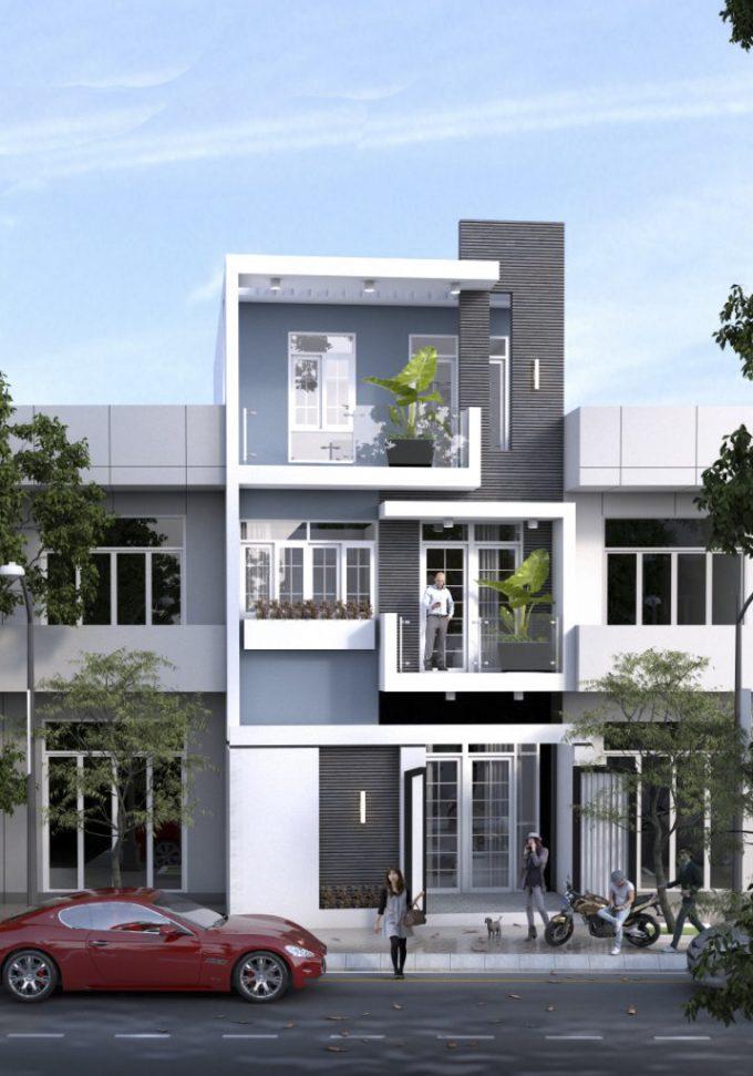 các mẫu nhà đẹp 3 tầng