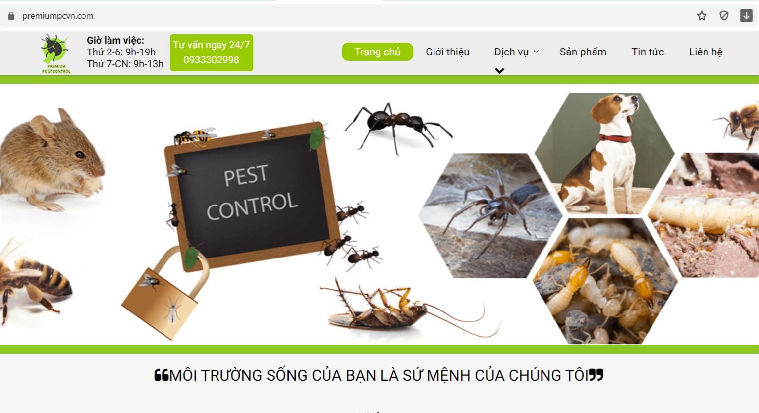 Công ty diệt côn trùng Tiên Phong Pest Control
