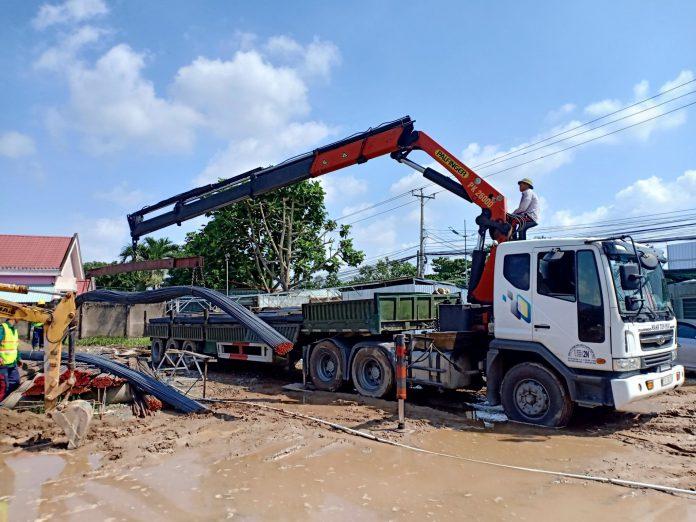 dịch vụ cho thuê xe cẩu vận chuyển hàng hóa